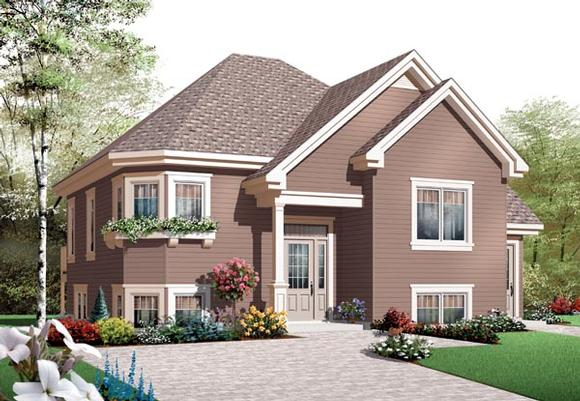 House Plan 76204 with 4 Beds, 2 Baths Elevation