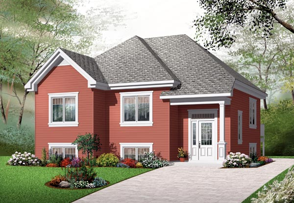 House Plan 76205 with 2 Beds, 1 Baths Elevation