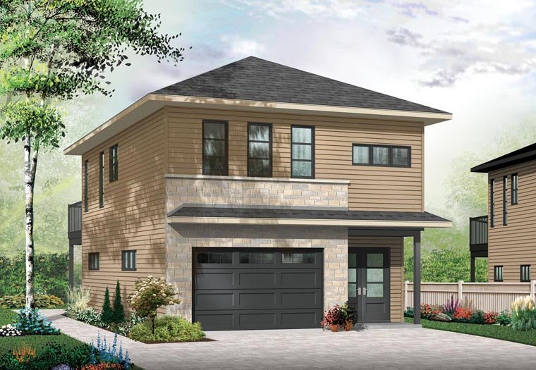 Garage Plan 76395 1 Car Garage Apartment Cottage Style