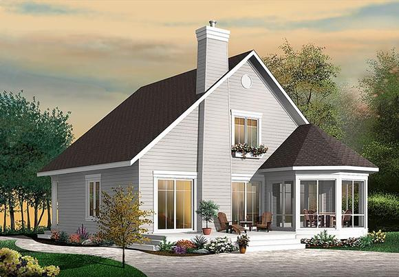 Cottage, Southern, Traditional House Plan 76452 with 4 Beds, 3 Baths Elevation