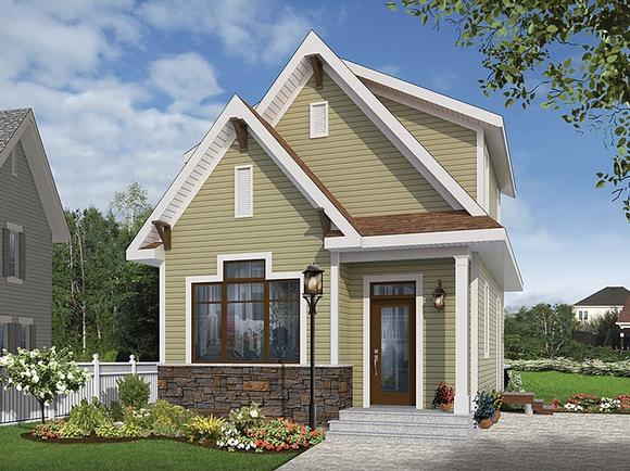 Cottage, Country, Craftsman, Tudor House Plan 76458 with 3 Beds, 2 Baths Elevation