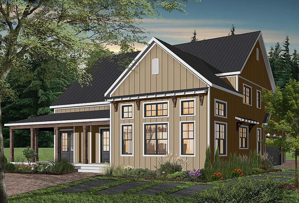 Cape Cod, Country, Craftsman, Farmhouse, Ranch House Plan 76521 with 4 Beds, 4 Baths, 3 Car Garage Picture 2