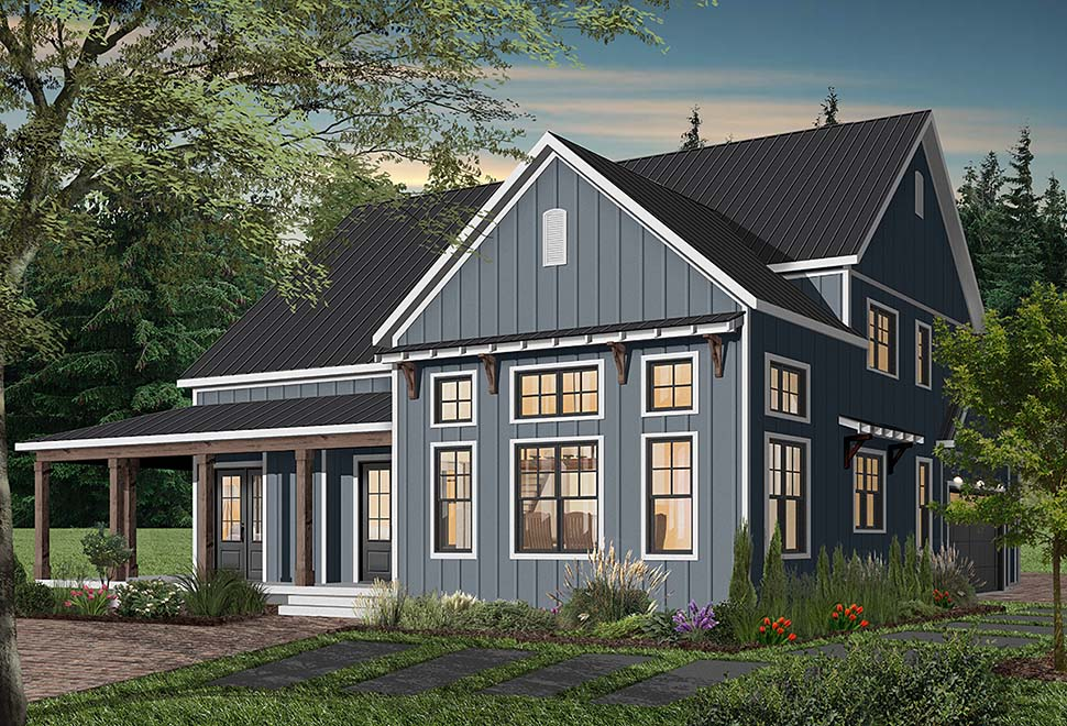 Cape Cod, Country, Craftsman, Farmhouse, Ranch House Plan 76521 with 4 Beds, 4 Baths, 3 Car Garage Picture 4