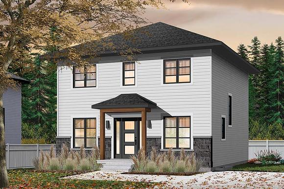 Colonial, Traditional House Plan 76538 with 4 Beds, 2 Baths Elevation