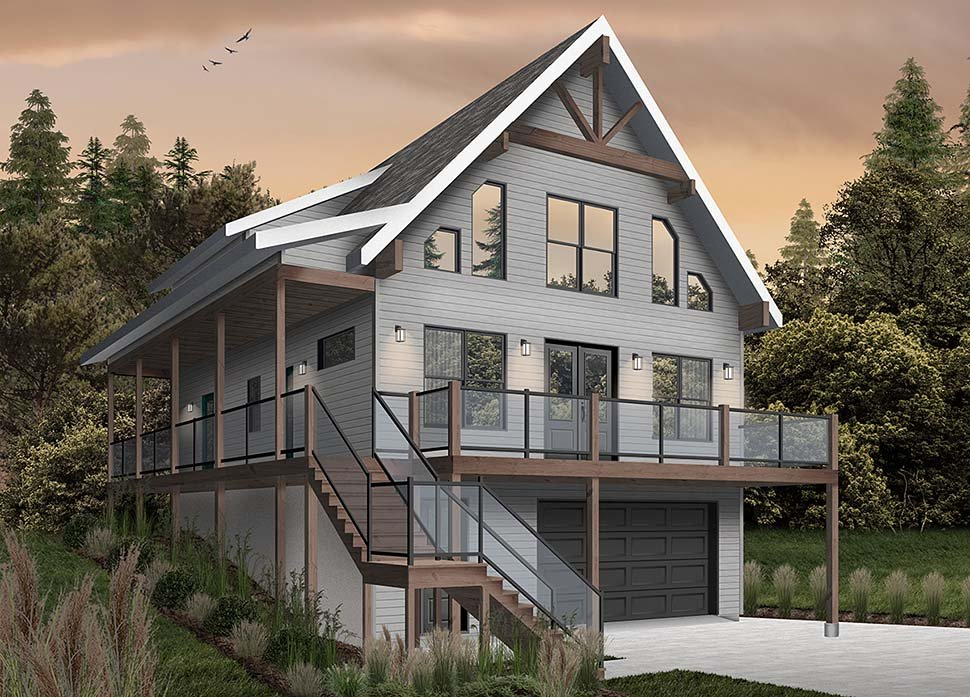 Cabin, Coastal, Country, Traditional House Plan 76550 with 4 Beds, 3 Baths, 1 Car Garage Picture 2
