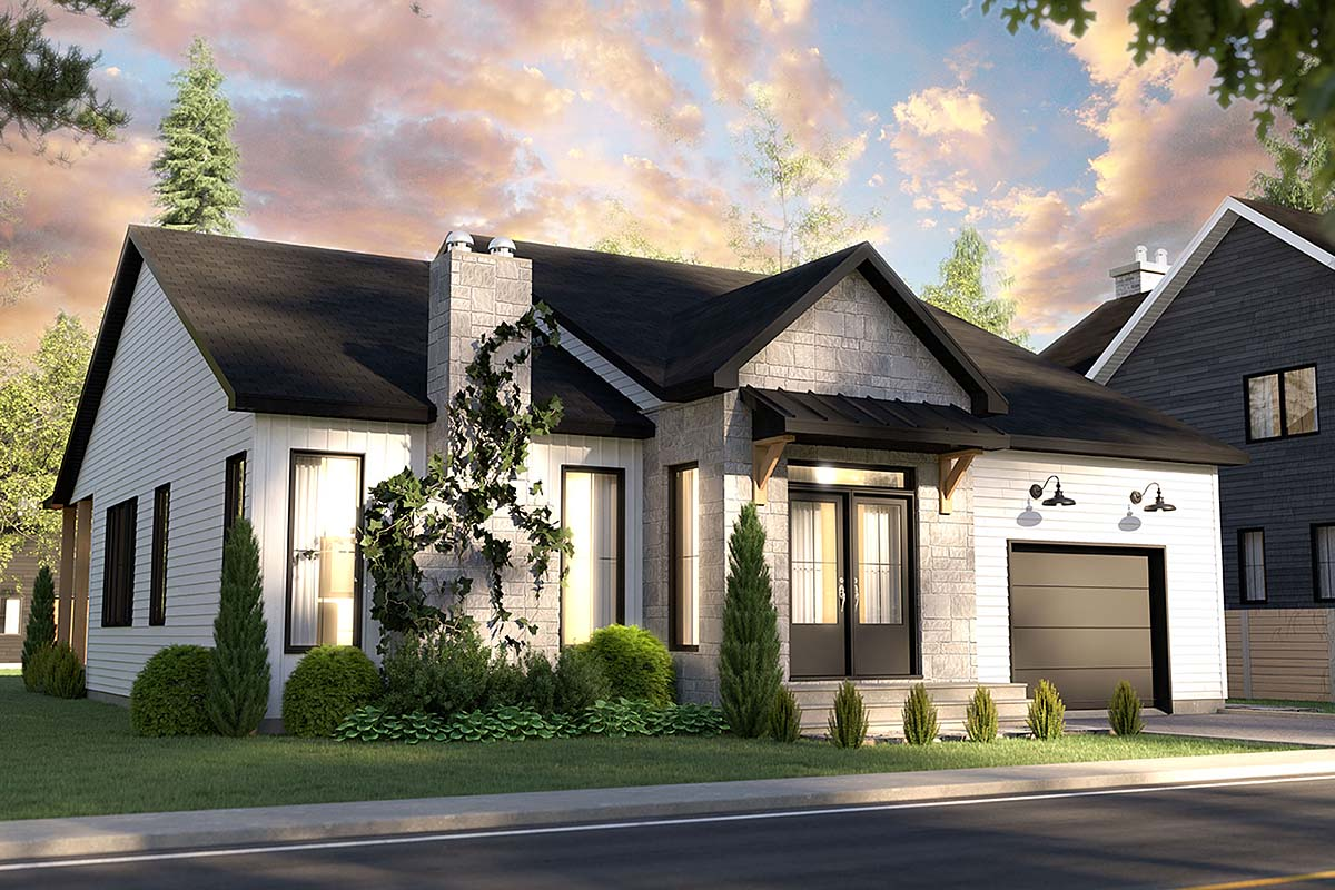 Bungalow, Country, Craftsman, Farmhouse, Ranch House Plan 76568 with 2 Beds, 2 Baths, 1 Car Garage Elevation
