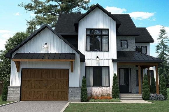 Country, Craftsman, Farmhouse House Plan 76569 with 3 Beds, 3 Baths, 1 Car Garage Elevation