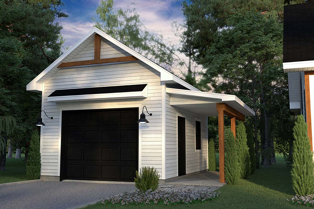 Country, Craftsman, Farmhouse, Ranch 1 Car Garage Plan 76570 Elevation