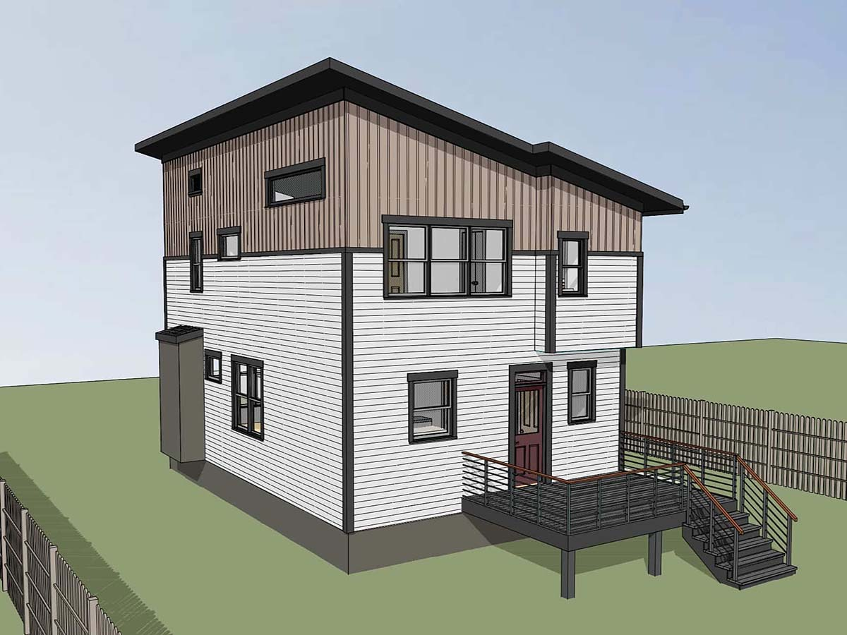Contemporary House Plan 76614 with 3 Beds, 3 Baths Picture 1