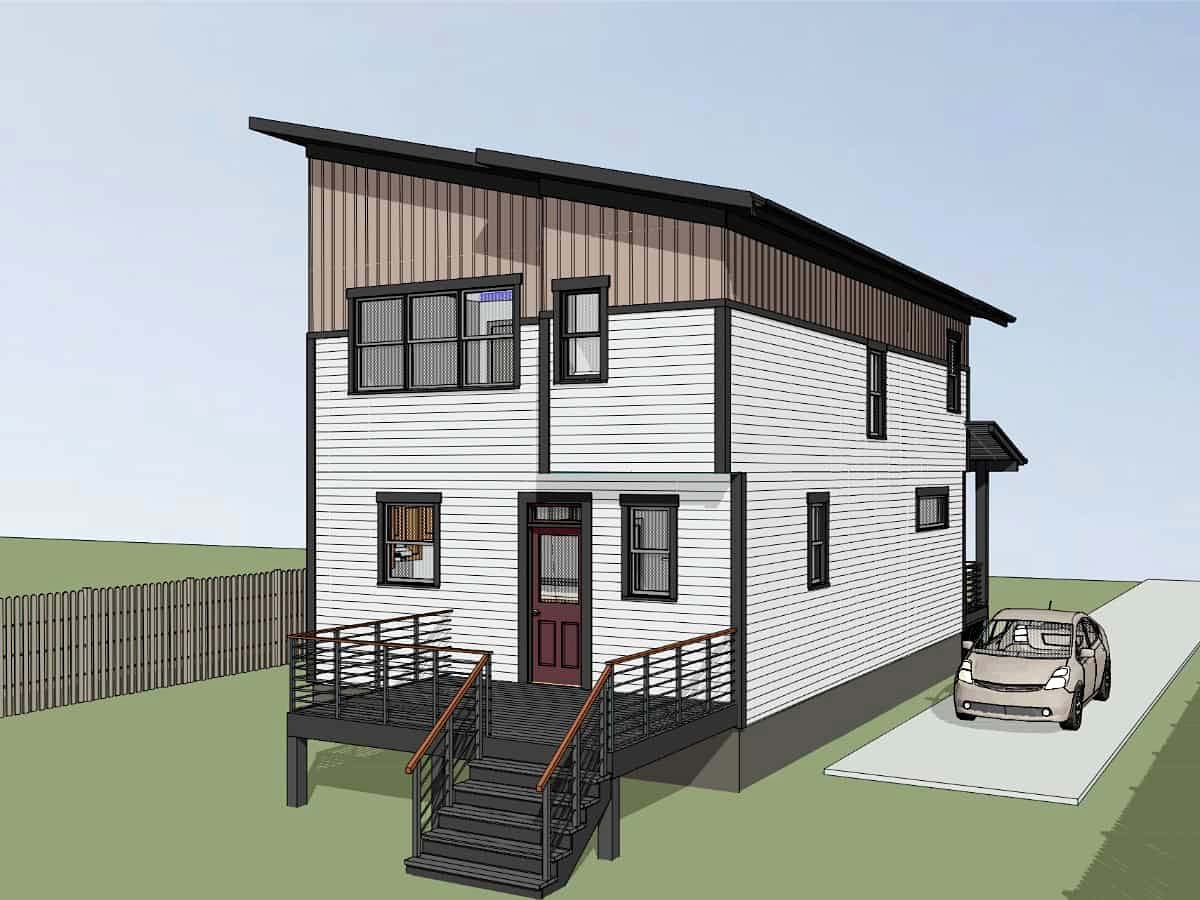 Contemporary House Plan 76614 with 3 Beds, 3 Baths Picture 2