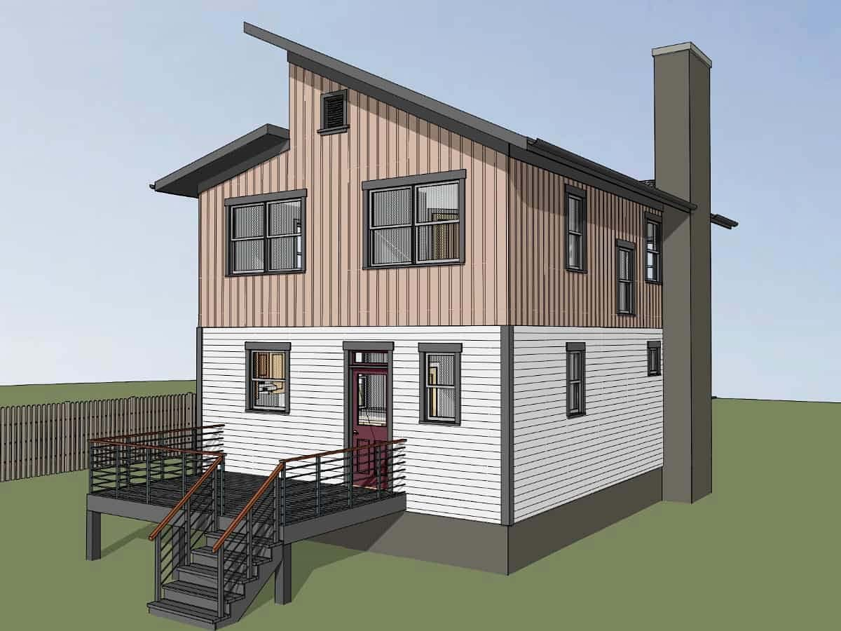 Contemporary House Plan 76615 with 3 Beds, 3 Baths Picture 2