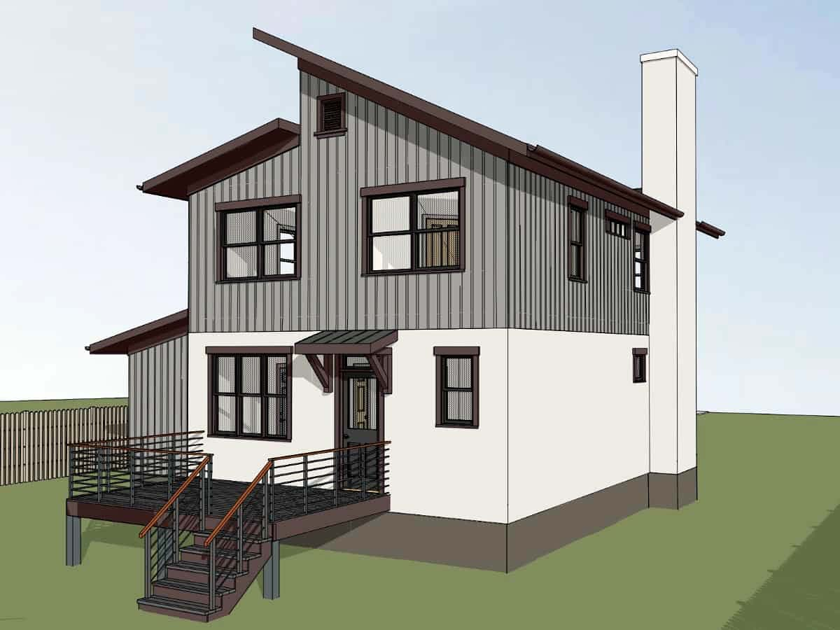 Contemporary House Plan 76616 with 3 Beds, 3 Baths, 1 Car Garage Picture 1