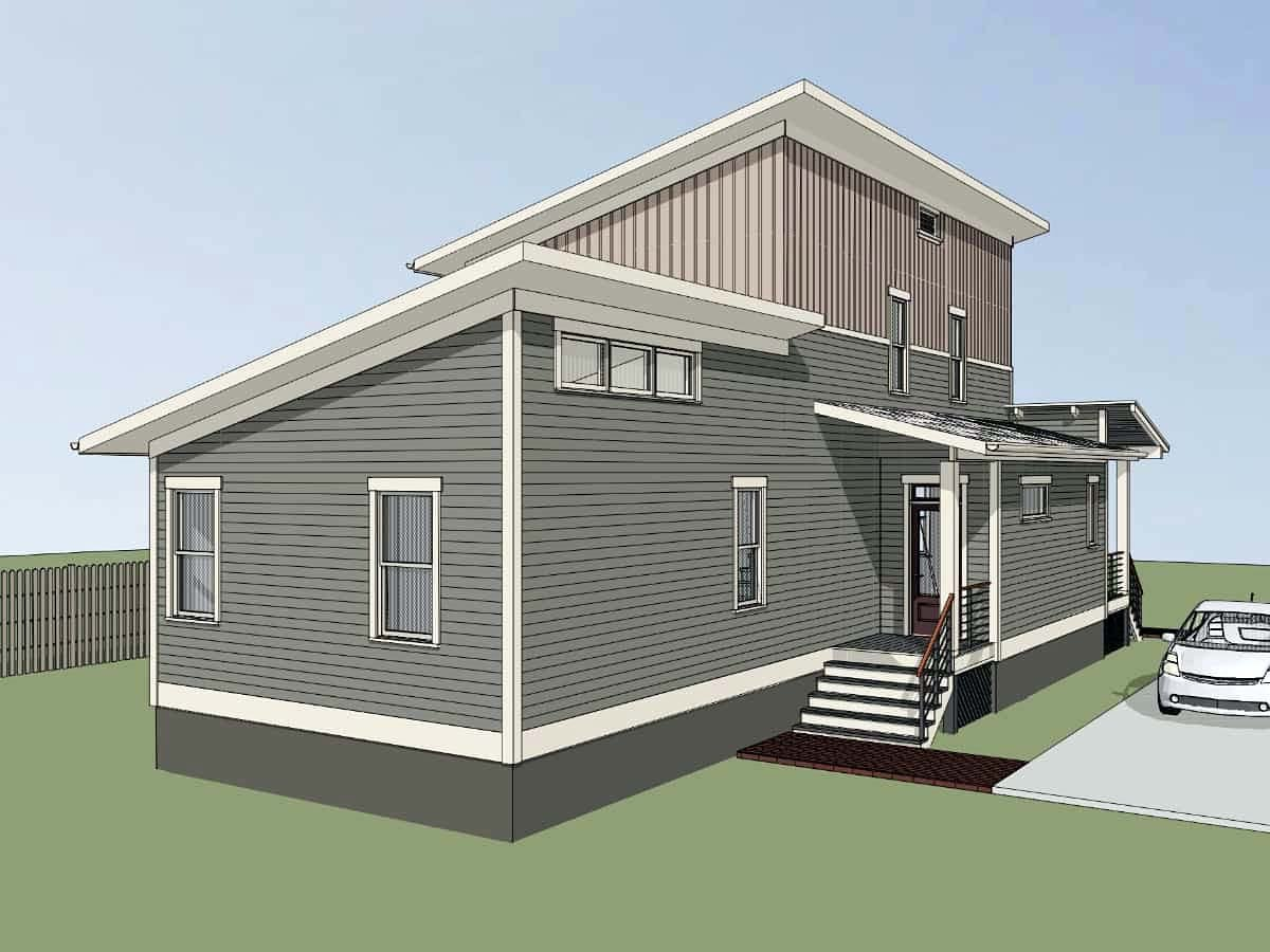 Contemporary House Plan 76618 with 3 Beds, 3 Baths Picture 2