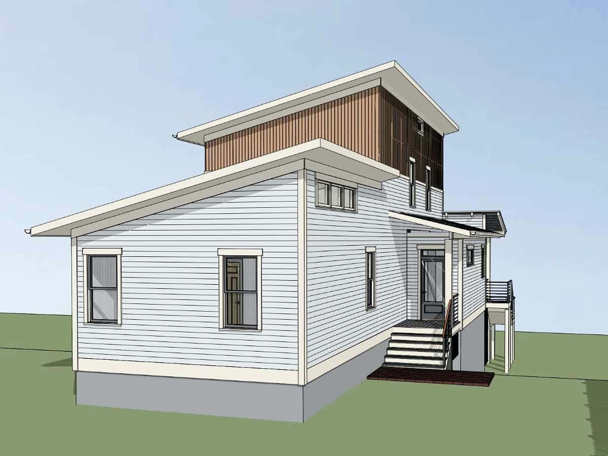 Contemporary, Modern House Plan 76619 with 3 Beds, 3 Baths, 1 Car Garage Picture 2