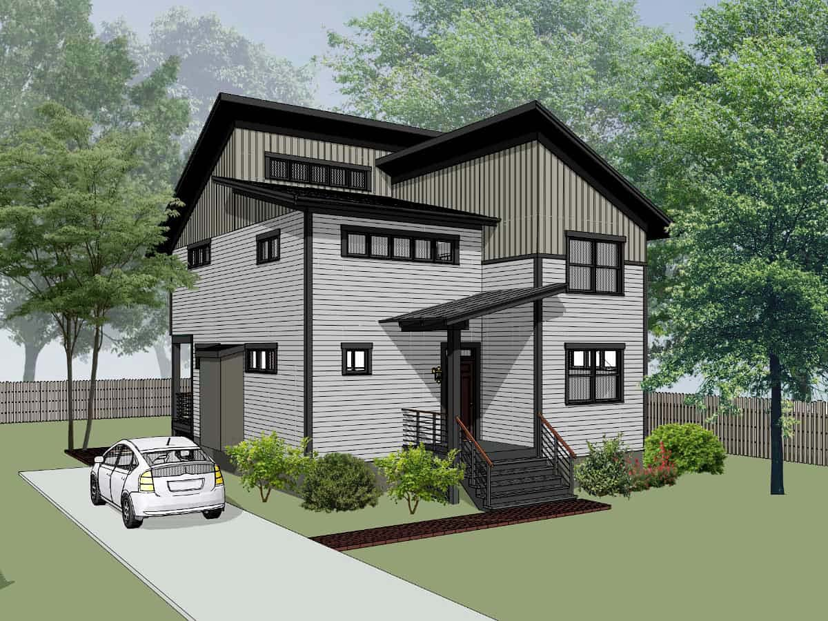 Contemporary, Modern House Plan 76620 with 3 Beds, 3 Baths Picture 2
