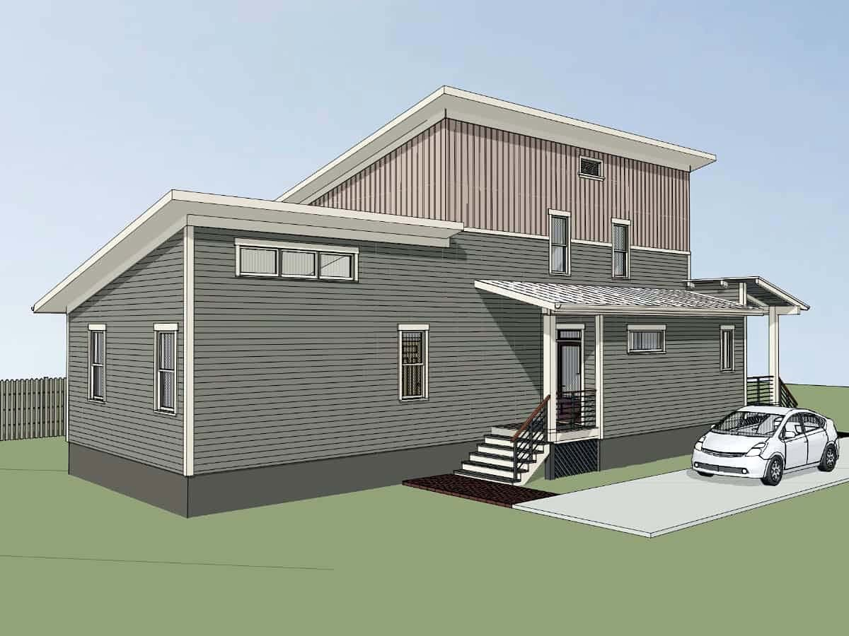 Contemporary House Plan 76621 with 3 Beds, 3 Baths Picture 2