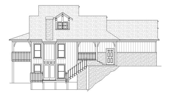 Cottage, Country, Traditional House Plan 76918 with 3 Beds, 4 Baths, 2 Car Garage Picture 2