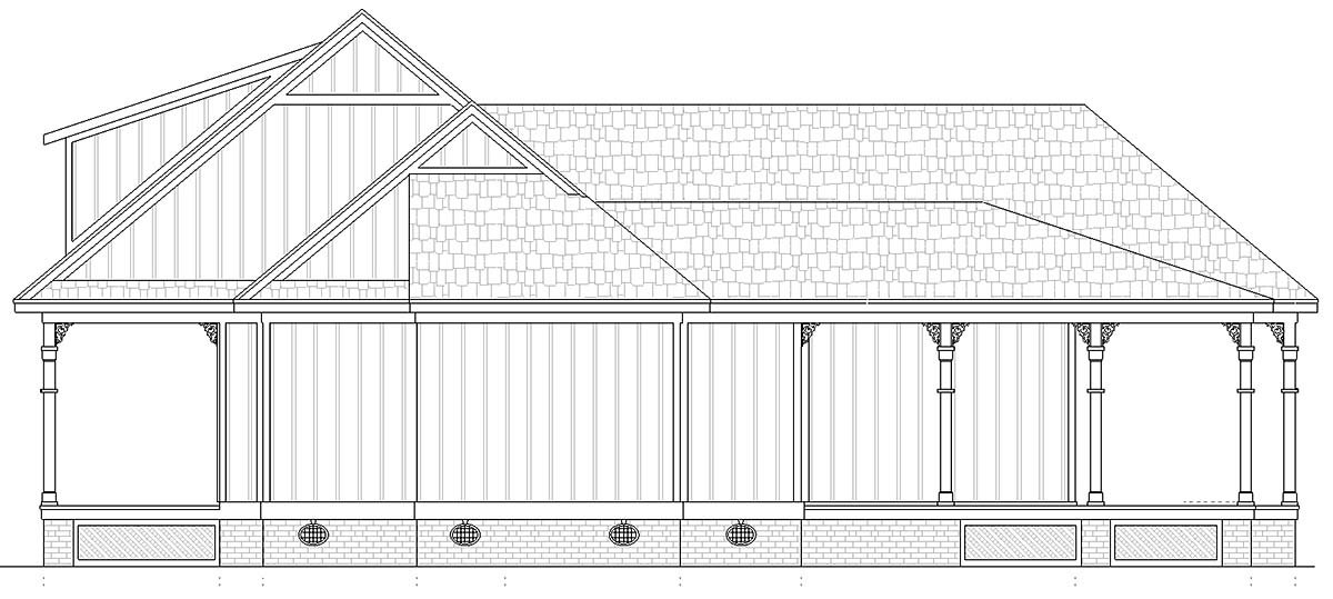 Cottage House Plan 76942 with 1 Beds, 2 Baths Picture 1