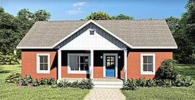 Plan Number 77406 - 1311 Square Feet