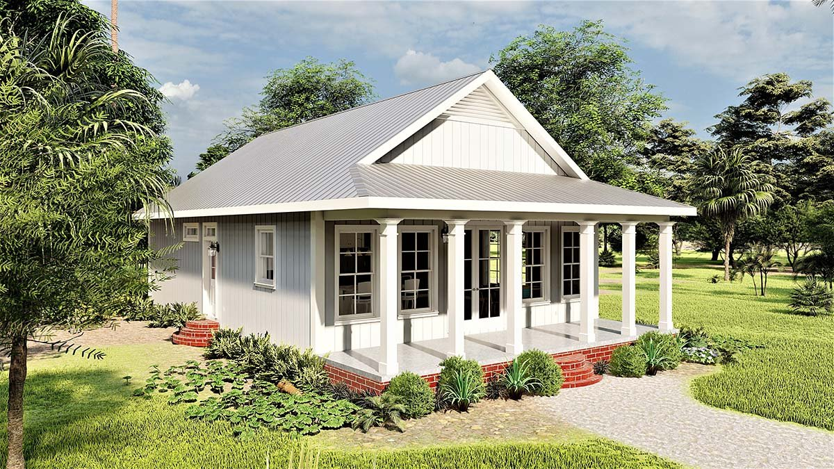 Country, Southern House Plan 77412 with 2 Beds, 2 Baths Picture 2