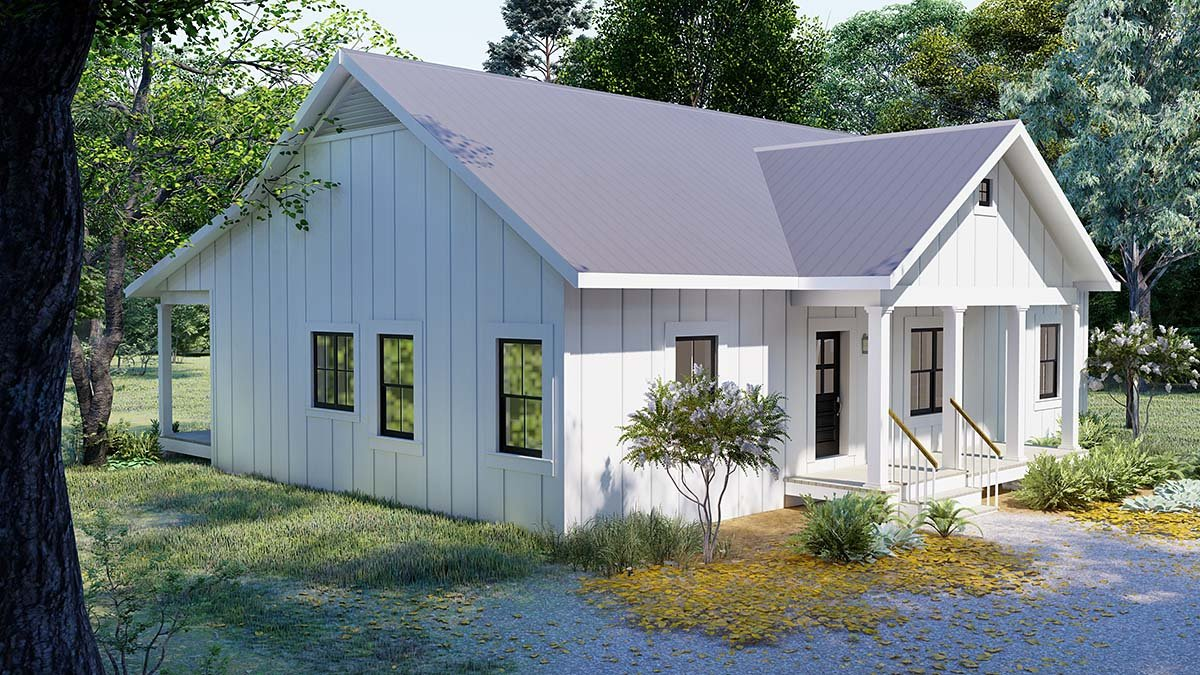 Cottage, Country, Traditional House Plan 77413 with 3 Beds, 2 Baths Picture 2