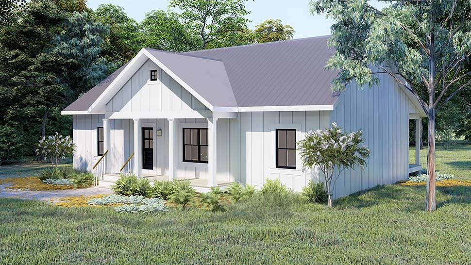 Cottage, Country, Traditional House Plan 77413 with 3 Beds, 2 Baths Picture 3