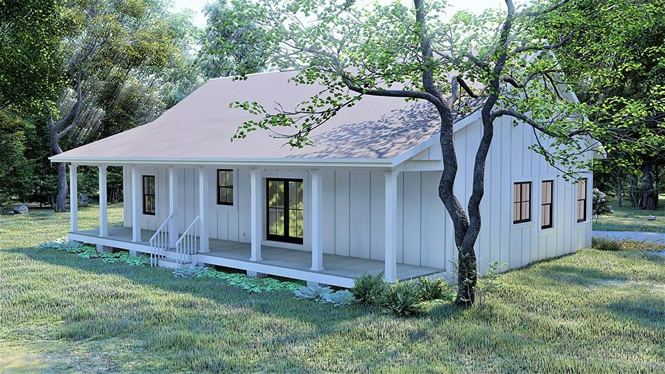 Cottage, Country, Traditional House Plan 77413 with 3 Beds, 2 Baths Picture 4