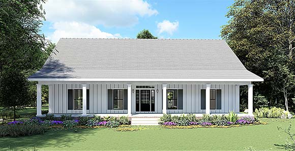 Country, Farmhouse House Plan 77414 with 4 Beds, 3 Baths Elevation