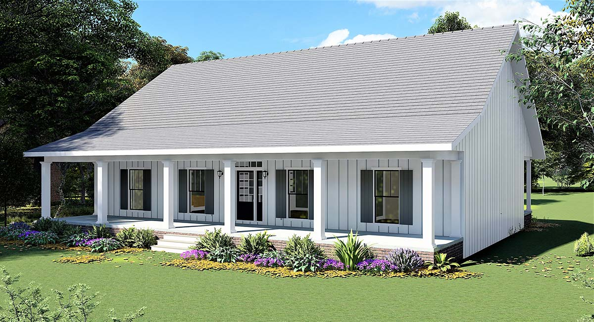 Country, Farmhouse House Plan 77414 with 4 Beds, 3 Baths Picture 1