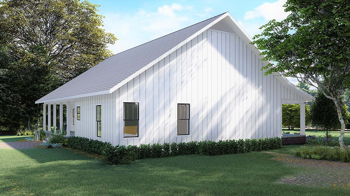 Country, Farmhouse House Plan 77414 with 4 Beds, 3 Baths Picture 2