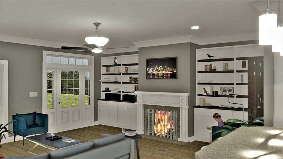 Country, Farmhouse House Plan 77414 with 4 Beds, 3 Baths Picture 4