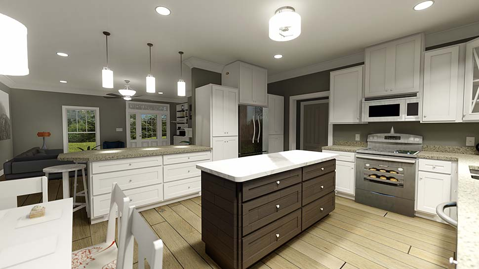 Country, Farmhouse House Plan 77414 with 4 Beds, 3 Baths Picture 6