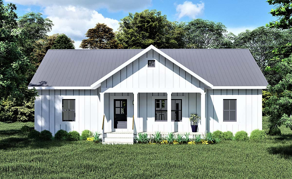 Cottage, Country House Plan 77415 with 3 Beds, 2 Baths Elevation