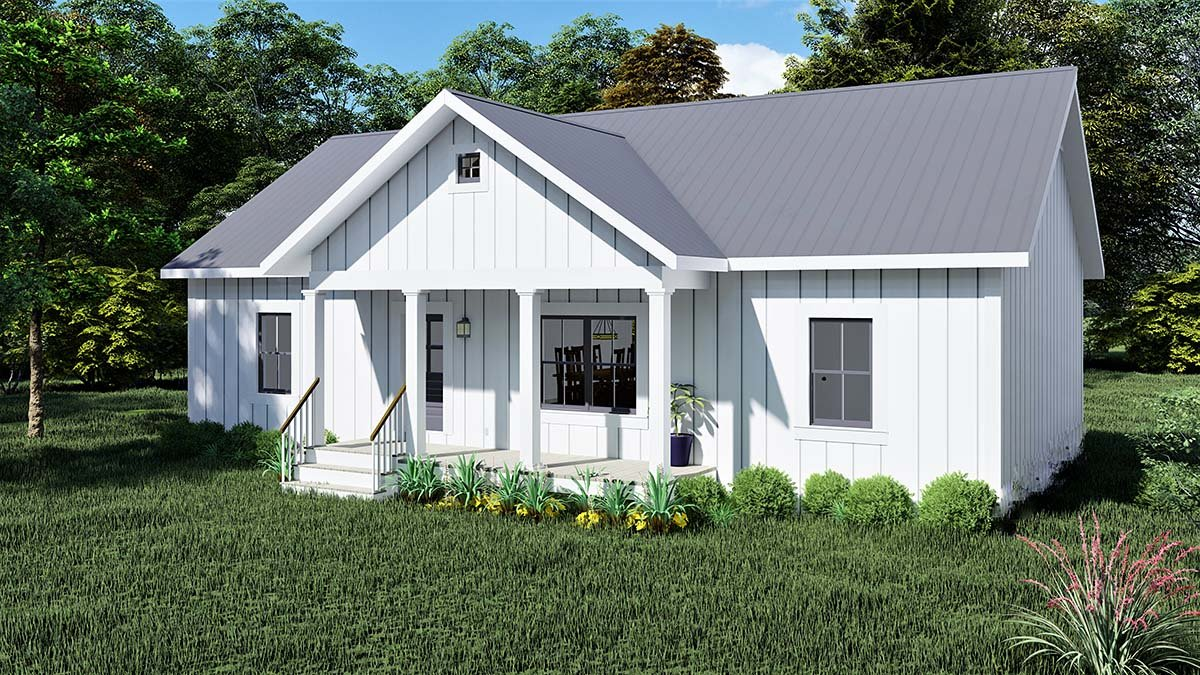 Cottage, Country House Plan 77415 with 3 Beds, 2 Baths Picture 1
