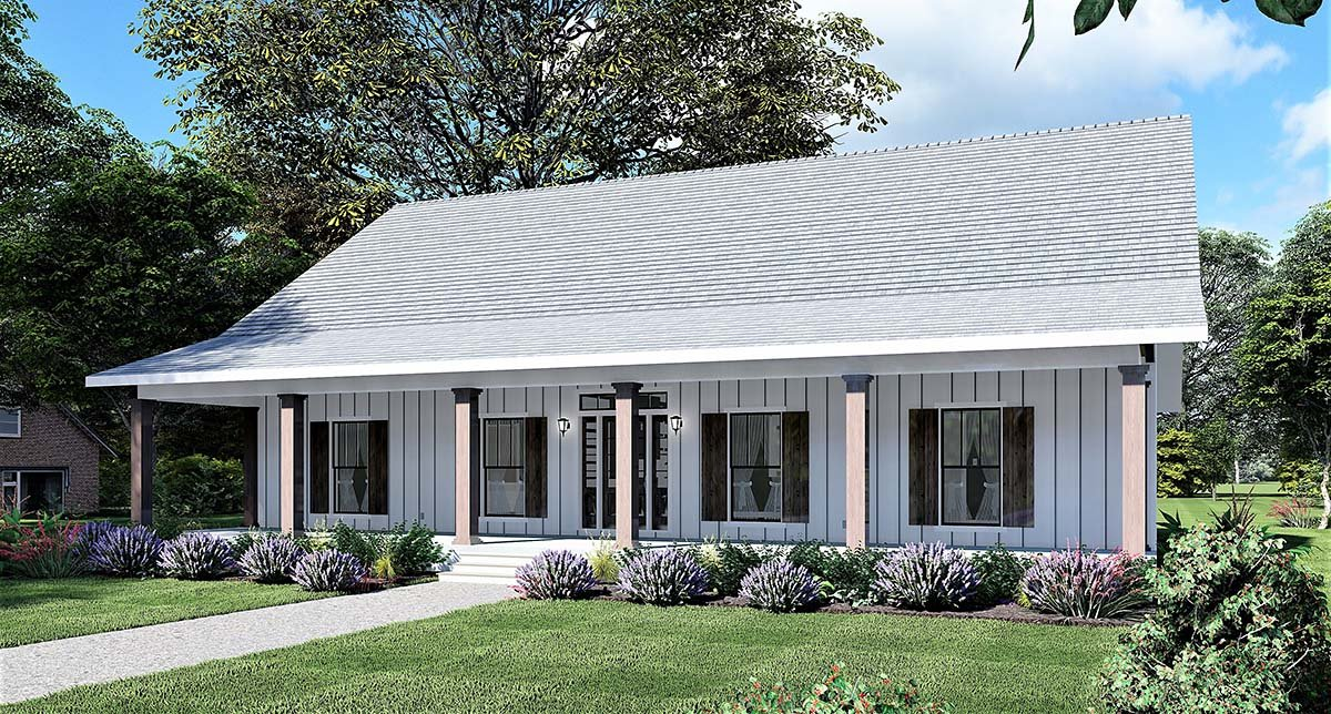 Country, Farmhouse, Southern House Plan 77416 with 4 Beds, 2 Baths Picture 1