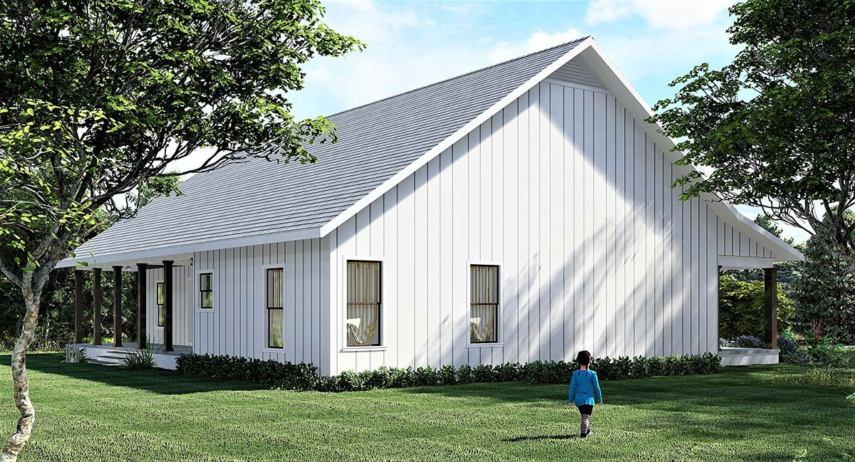 Country, Farmhouse, Southern House Plan 77416 with 4 Beds, 2 Baths Picture 2