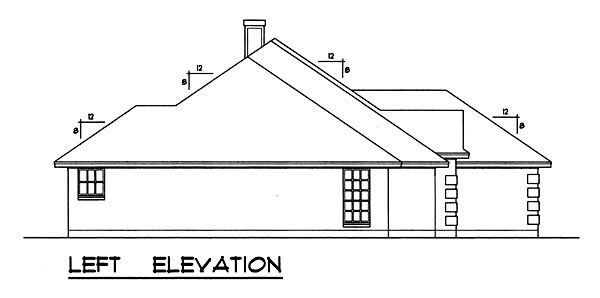 Traditional House Plan 77755 with 3 Beds, 2 Baths, 2 Car Garage Picture 1