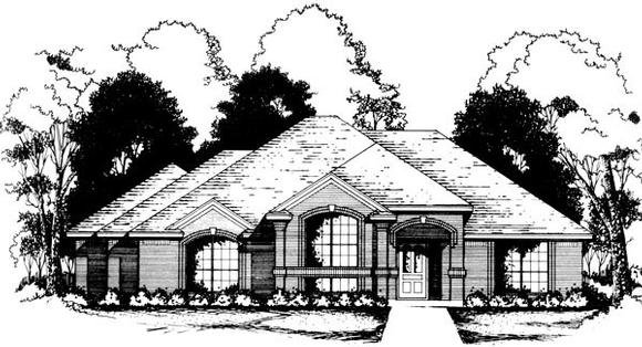 Traditional House Plan 77756 with 3 Beds, 2 Baths, 2 Car Garage Elevation