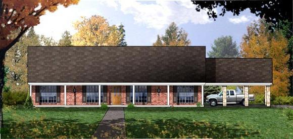 Country House Plan 77759 with 3 Beds, 2 Baths Elevation