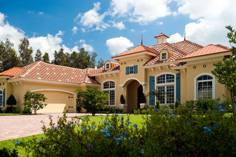 Mediterranean House Plan 78104 with 3 Beds, 4 Baths, 2 Car Garage Picture 1