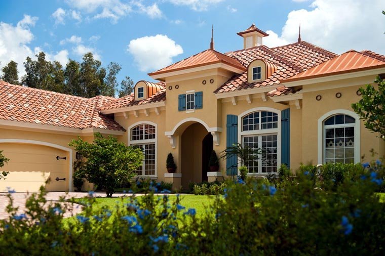 Mediterranean House Plan 78104 with 3 Beds, 4 Baths, 2 Car Garage Picture 2