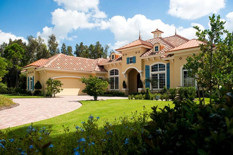 Mediterranean House Plan 78104 with 3 Beds, 4 Baths, 2 Car Garage Picture 6