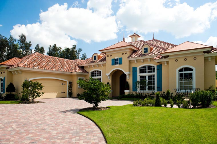 Mediterranean House Plan 78104 with 3 Beds, 4 Baths, 2 Car Garage Picture 9