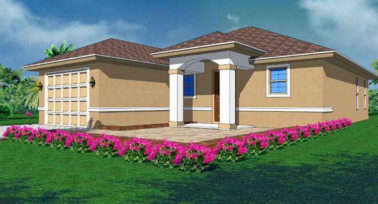 Mediterranean House Plan 78108 with 3 Beds, 2 Baths, 1 Car Garage Picture 1