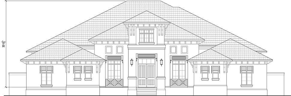 Florida, Modern House Plan 78191 with 4 Beds, 5 Baths, 4 Car Garage Picture 3