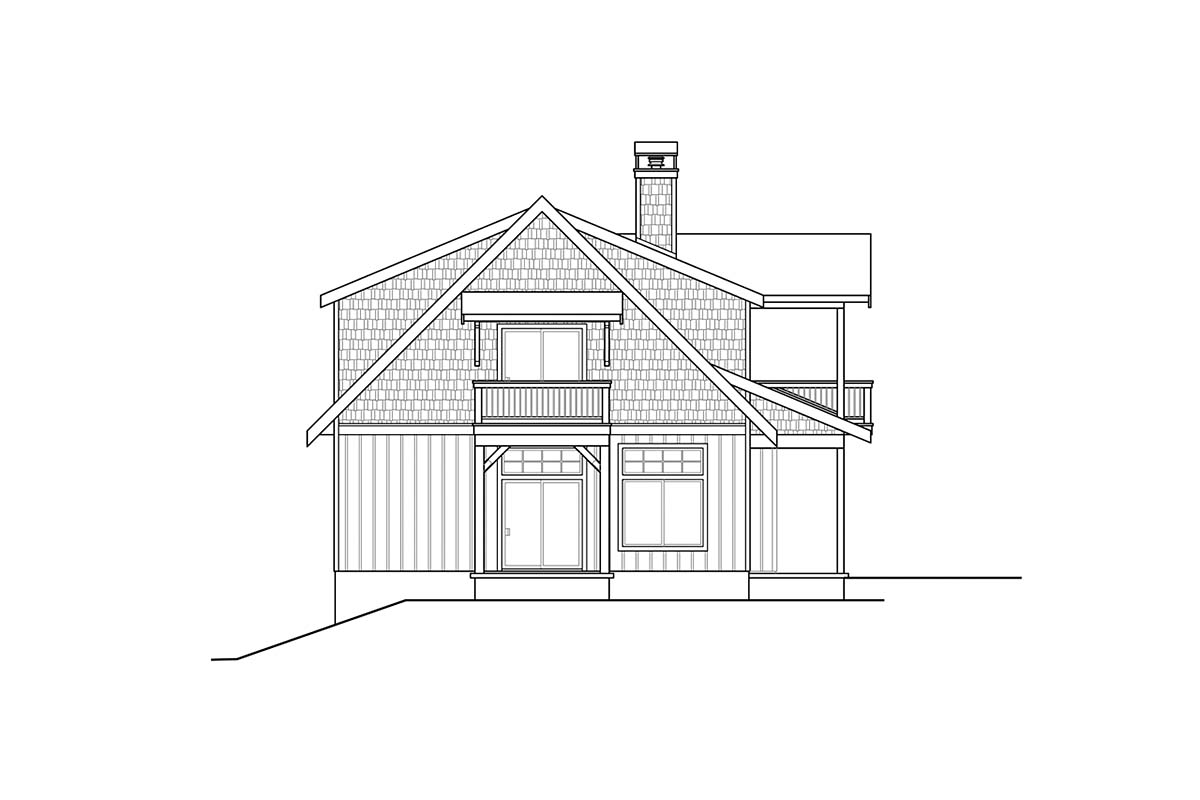 Cottage, Craftsman House Plan 78401 with 1 Beds, 2 Baths, 2 Car Garage Picture 2