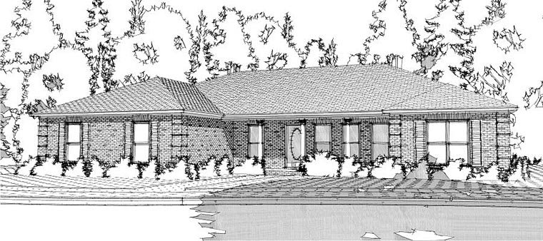 Ranch, Traditional House Plan 78653 with 3 Beds, 3 Baths, 2 Car Garage Elevation