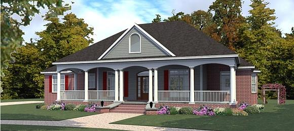 Country, European House Plan 78877 with 3 Beds, 3 Baths, 3 Car Garage Elevation