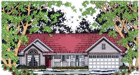 Country House Plan 79259 with 3 Beds, 2 Baths, 2 Car Garage Elevation