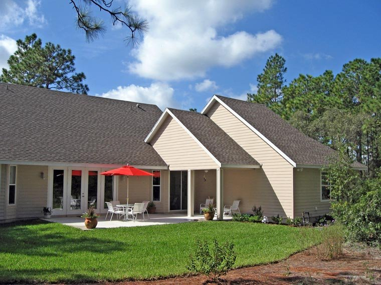 Coastal, Country, Farmhouse, Southern, Traditional House Plan 79521 with 3 Beds, 3 Baths, 2 Car Garage Rear Elevation